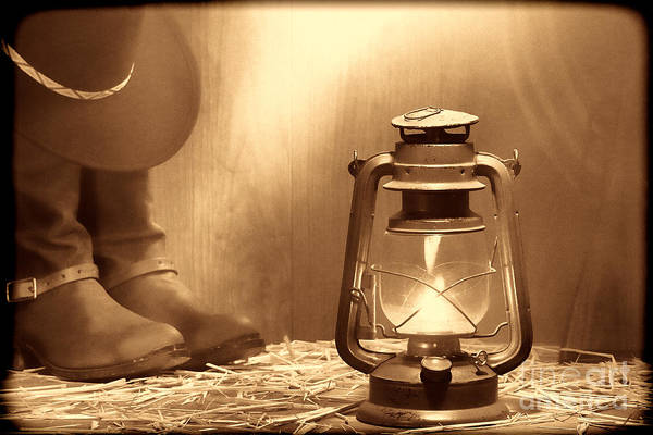 Photograph - Kerosene Lamp by American West Legend By Olivier Le Queinec