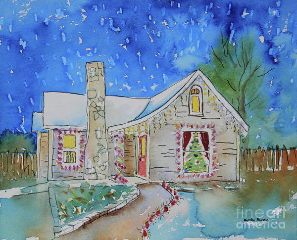 Central Texas Painting - Kerrville Christmas by Marsha Reeves