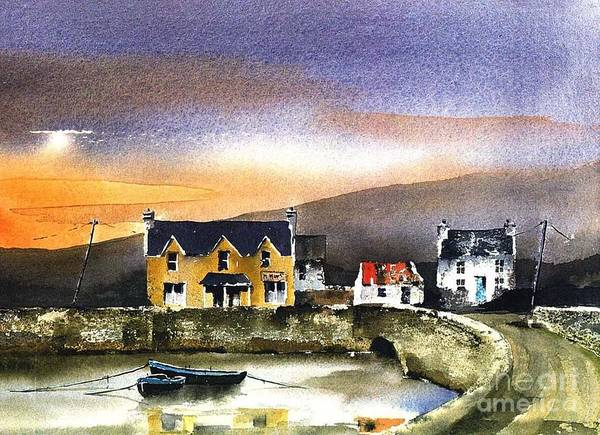 Painting - Kerry... Beara. Killmakilloge Harbour by Val Byrne