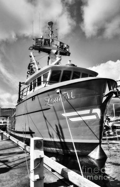 Photograph - Ketchikan Fishing Boats 2 Bw by Mel Steinhauer