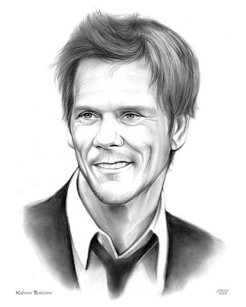 Six Wall Art - Drawing - Kevin Bacon by Greg Joens
