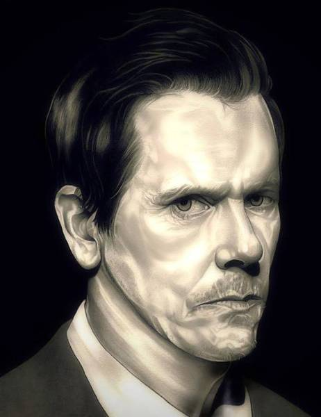 The Mystic Drawing - Kevin Bacon - The Following by Fred Larucci