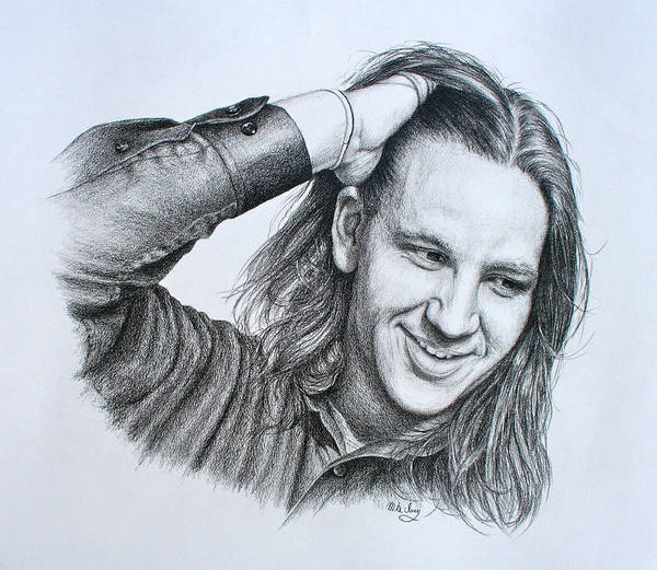 Drawing - Kevin Daniel Yates by Mike Ivey