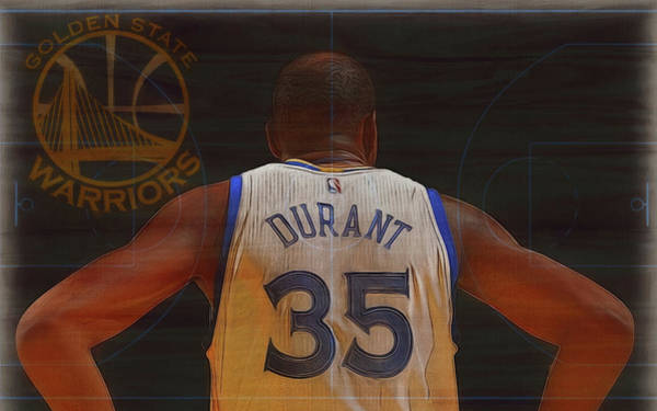 Championship Mixed Media - Kevin Durant Golden State by Dan Sproul