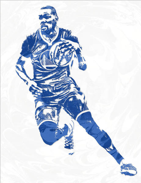 Golden Mixed Media - Kevin Durant Golden State Warriors Pixel Art 10 by Joe Hamilton