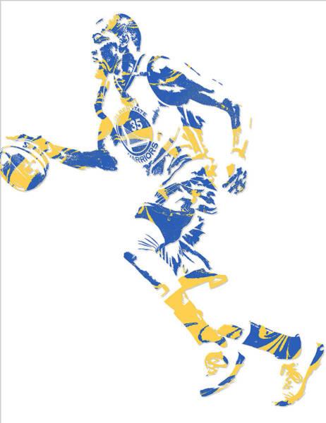 Golden Mixed Media - Kevin Durant Golden State Warriors Pixel Art 16 by Joe Hamilton