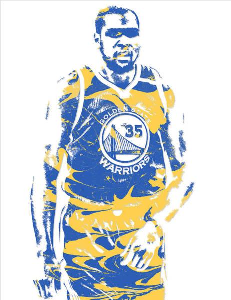 Golden Mixed Media - Kevin Durant Golden State Warriors Pixel Art 17 by Joe Hamilton