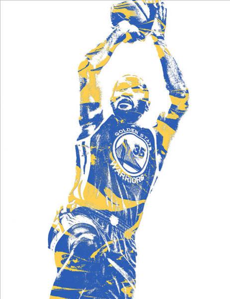 Golden Mixed Media - Kevin Durant Golden State Warriors Pixel Art 31 by Joe Hamilton
