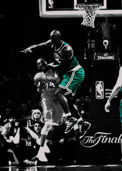 Wall Art - Mixed Media - Kevin Garnett Not In Here by Brian Reaves