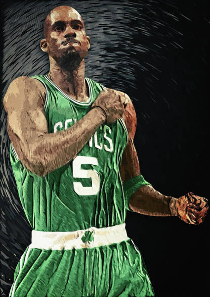 Digital Art - Kevin Garnett by Zapista Zapista