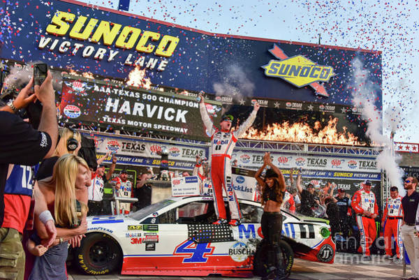 Photograph - Kevin Harvick In The Winners Circle At Texas Motor Speedway by Paul Quinn