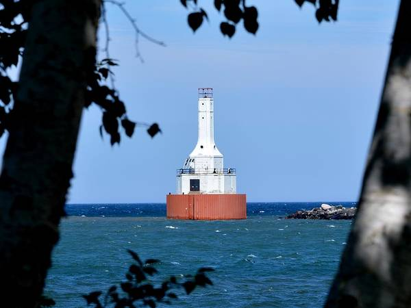 Photograph - Keweenaw Waterway Lighthouse. by Keith Stokes
