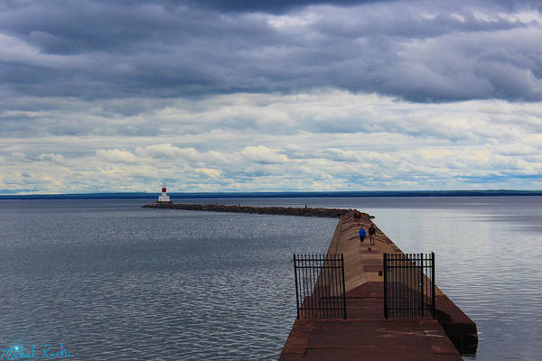 Lighthouse Wall Art - Photograph - Keweenaw Waterway Lighthouse by Michael Rucker