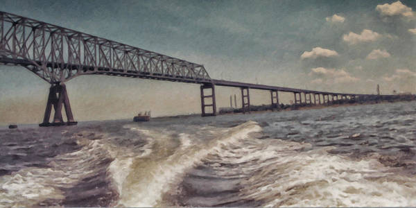 Painting - Key Bridge Annapolis Maryland Usa by Gerlinde Keating - Galleria GK Keating Associates Inc
