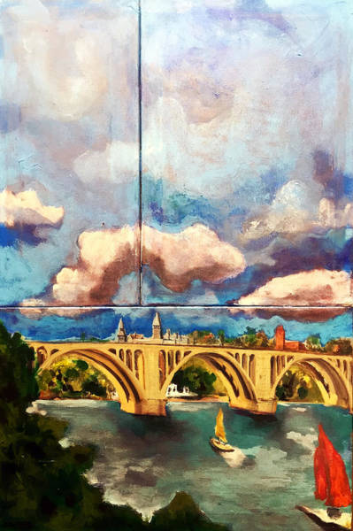 Painting - Key Bridge On The Potomac by Dilip Sheth