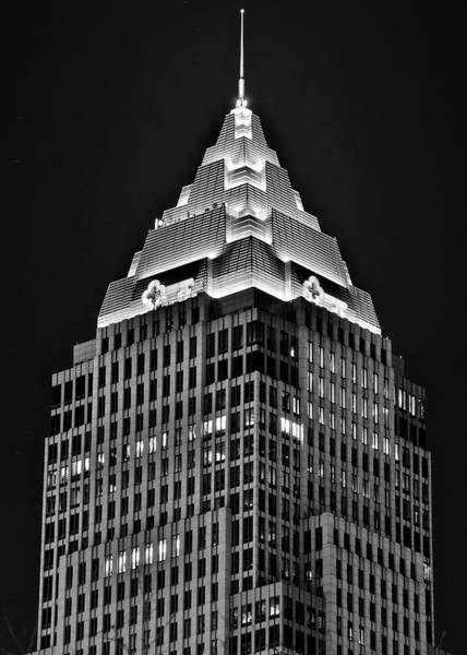 Wall Art - Photograph - Key Building Black Night by Frozen in Time Fine Art Photography