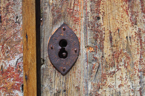 Corrosion Photograph - Key Hole by Carlos Caetano