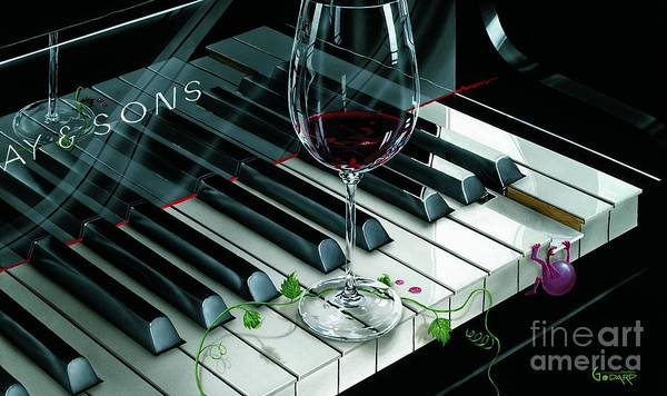 Classy Wall Art - Painting - Key To Wine by Michael Godard