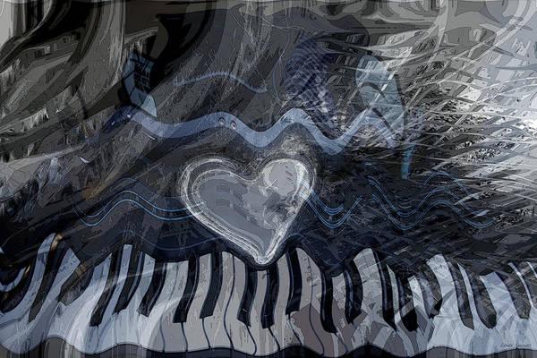 Wall Art - Digital Art - Key Waves by Linda Sannuti