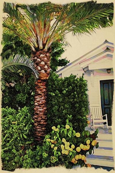 Photograph - Key West Black Door by Alice Gipson