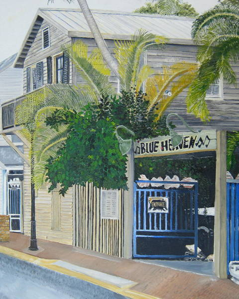 Florida Painting - Key West Blue Heaven by John Schuller
