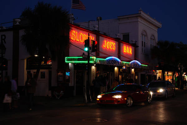 Photograph - Key West By Night by Susanne Van Hulst