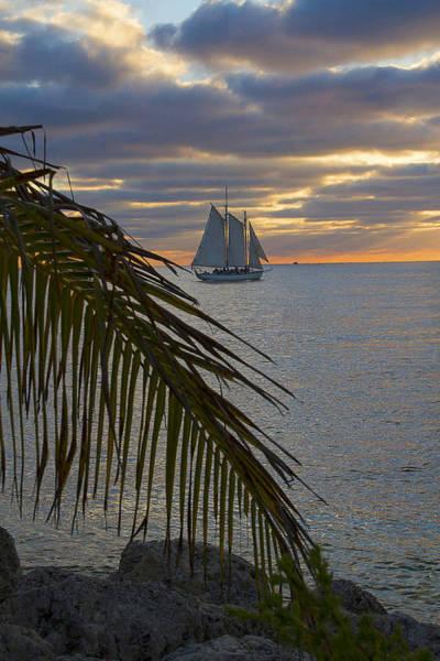 Photograph - Key West Cloudy Sunset Sailing by Bob Slitzan