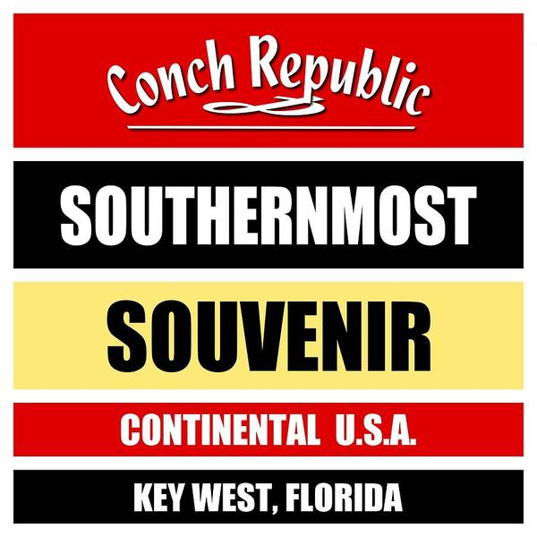 Clothing Design Mixed Media - Key West Florida Southernmost Design by Peter Potter