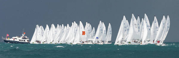 Photograph - Key West J70 Startline by Steven Lapkin