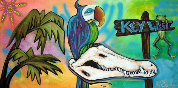Wall Art - Painting - Key West by Laura Barbosa