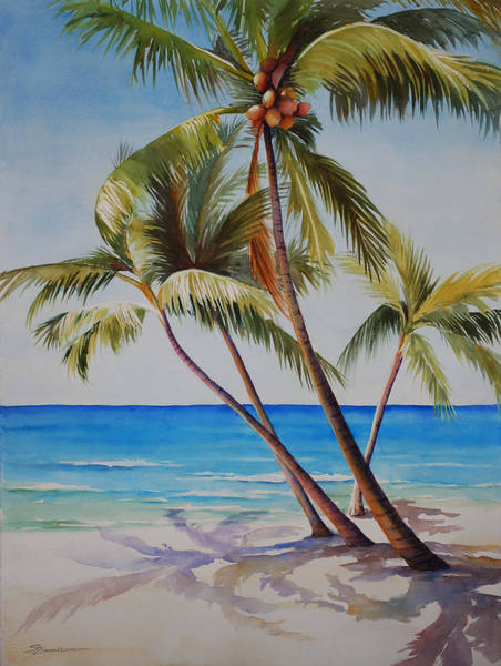 Wall Art - Painting - Key West Palms by Sue Zimmermann