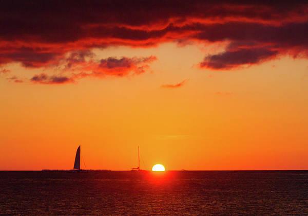 Photograph - Key West Red Cloud Sunset by Bob Slitzan