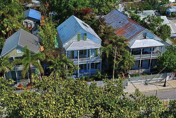 Photograph - Key West Roof Tops by Jost Houk