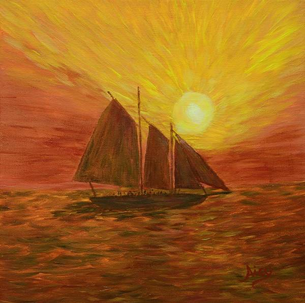 Wall Art - Painting - Key West Sailing by Aicy Karbstein