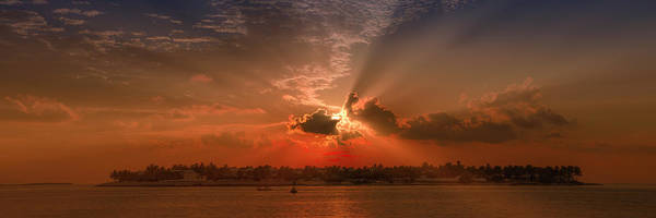 North Atlantic Wall Art - Photograph - Key West Sunset Panoramic by Melanie Viola