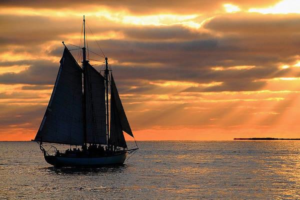 Photograph - Key West Sunset Sail 6 by Bob Slitzan