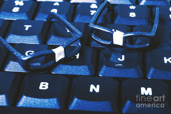 Rim Wall Art - Photograph - Keyboard Coders by Jorgo Photography - Wall Art Gallery