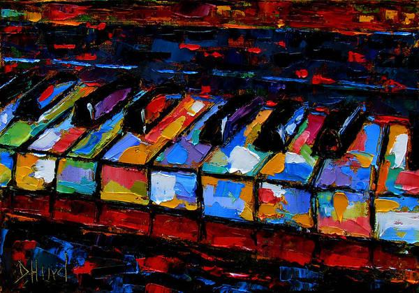 Piano Music Painting - Keyboard by Debra Hurd