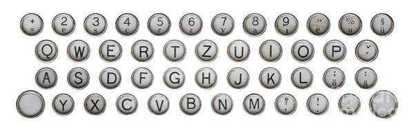 Wall Art - Photograph - Keyboard Of Old Typewriter by Michal Boubin