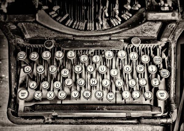Photograph - Keys Bw by Heather Applegate