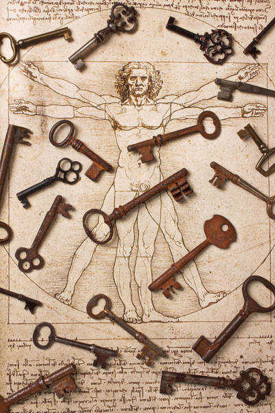 Skeleton Key Photograph - Keys On Artwoork by Garry Gay