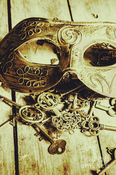 Masquerade Wall Art - Photograph - Keys To The Kingdom by Jorgo Photography - Wall Art Gallery