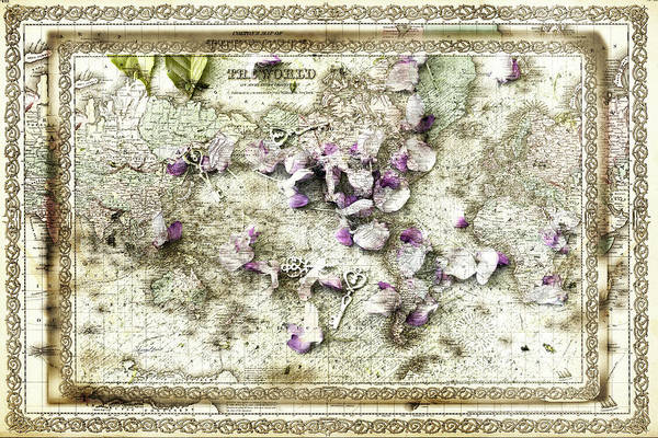 Photograph - Keys To The World Map by Sharon Popek