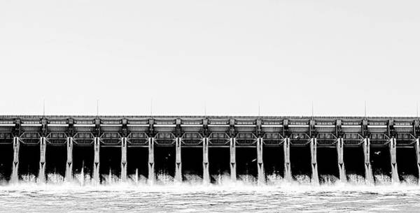 Keystone Dam Panoramic Art Print