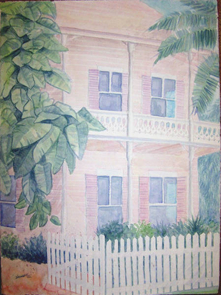 Wall Art - Painting - Keywest Front Porch by Al Soler