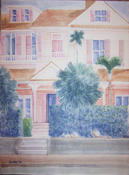 Wall Art - Painting - Keywest House by Al Soler