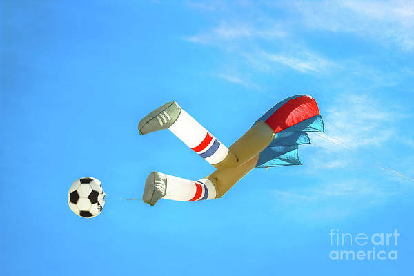 Kite Festival Wall Art - Photograph - Kick It  by Colleen Kammerer