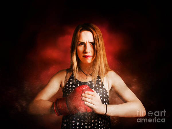 Kickboxing Photograph - Kickboxing Gym Girl In Boxing Fitness Competition  by Jorgo Photography - Wall Art Gallery