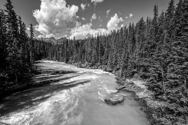 Photograph - Kicking Horse River British Columbia Bw by Joan Carroll