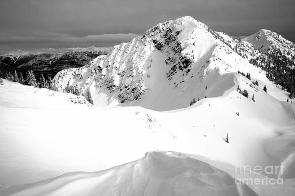 Photograph - Kicking Horse Terminator Peak Black And White by Adam Jewell